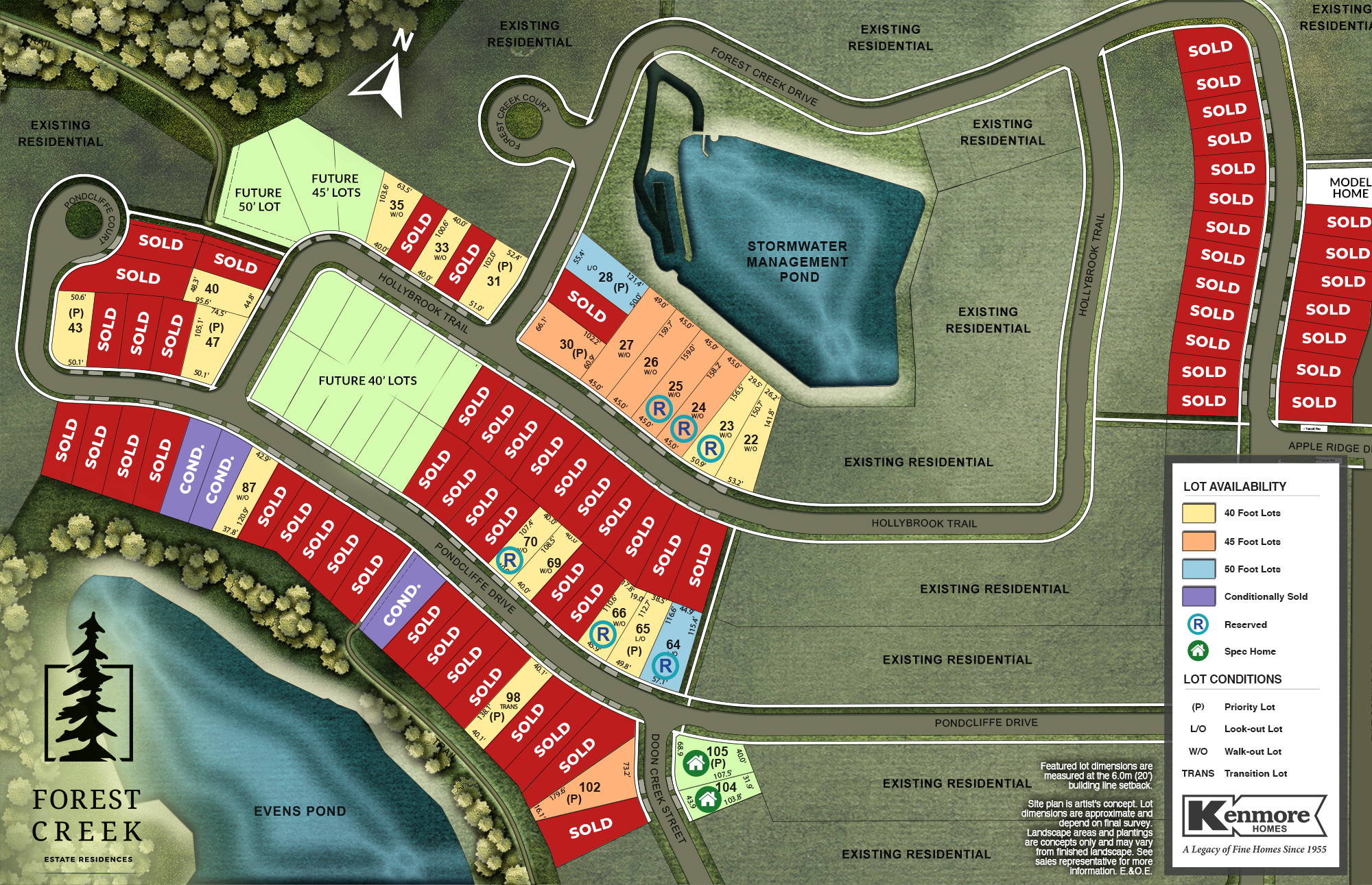 Kenmore Forest Creek site plan